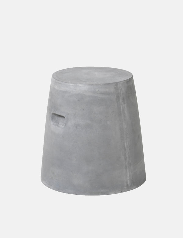 Broste Copenhagen Round Chair 'Fiber' Fiberclay - Charcoal Grey