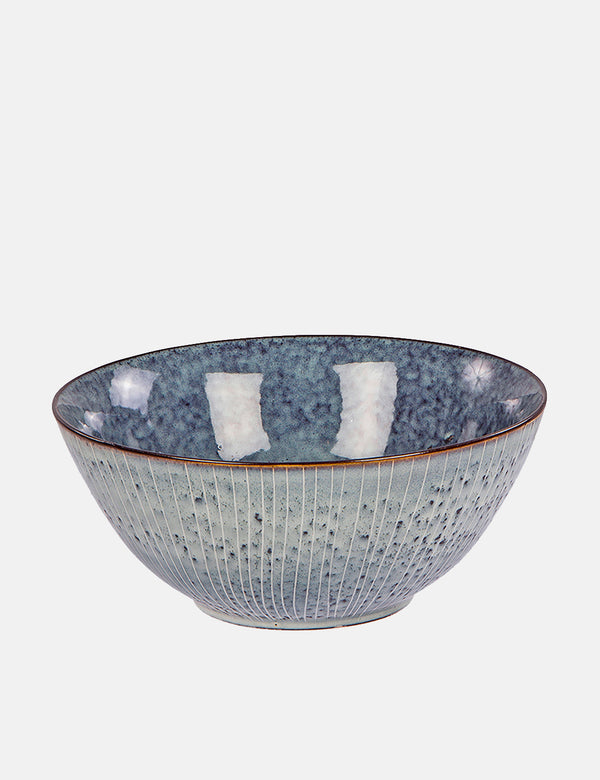 Broste Copenhagen Nordic Sea Stoneware Cereal Bowl - Sea Grey