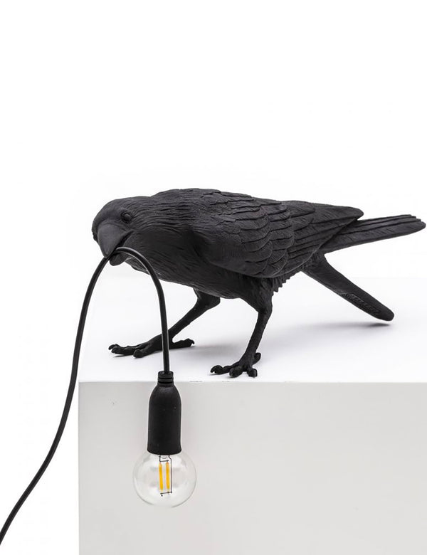 Seletti Bird Lamp Playing - Black
