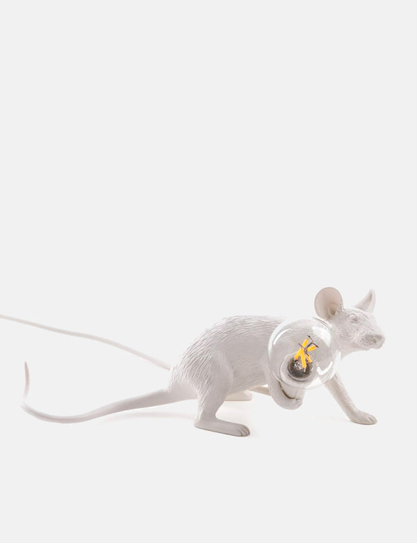 Seletti Mouse Lamp Lie Down - White