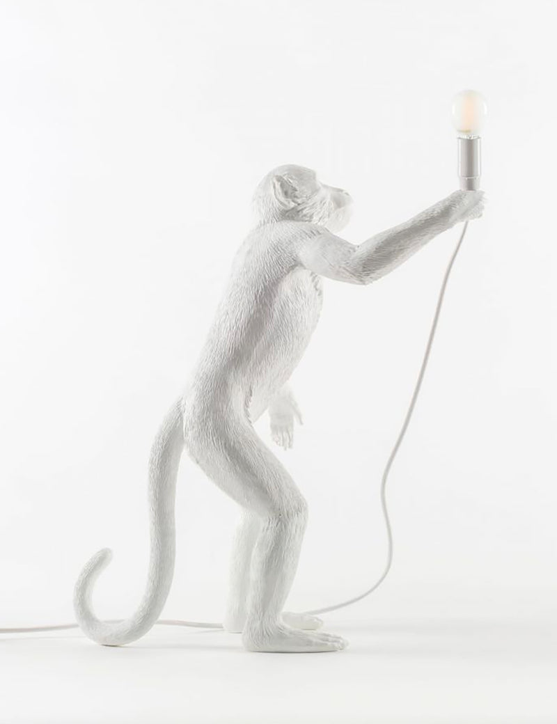 Seletti Monkey Lamp Standing - White