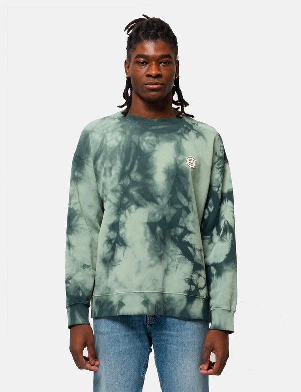 Nudie Lukas NJCO Circle Tie Dye Sweatshirt - Pale Green