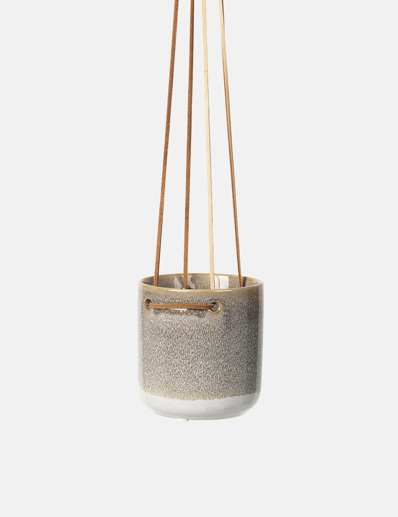 Broste Copenhagen Almas Hanging Flowerpot (Small) - Grey - Article