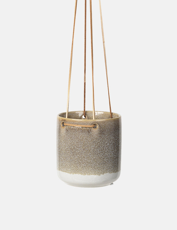 Broste Copenhagen Almas Hanging Flowerpot (Medium) - Grey - Article