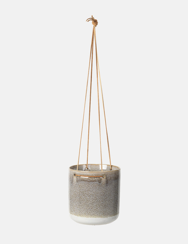 Broste Copenhagen Almas Hanging Flowerpot (Large) - Grey - Article