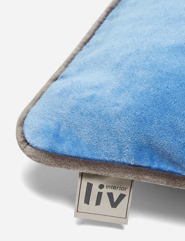 Liv Interior Velvet Cushion (45cm) - Regatta Blue