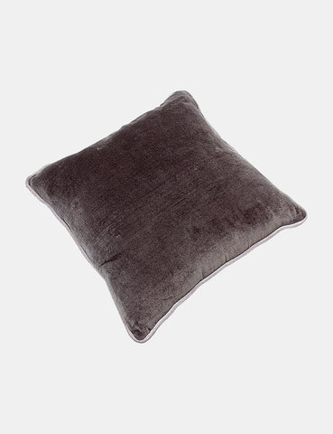 Liv Interior Velvet Cushion (45cm) - Granite Grey