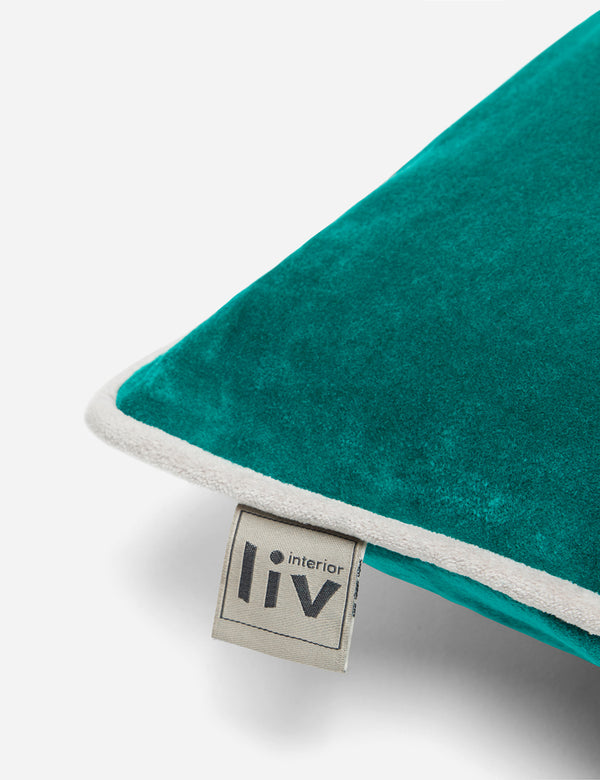 Liv Interior Velvet Cushion (45cm) - Emerald Green