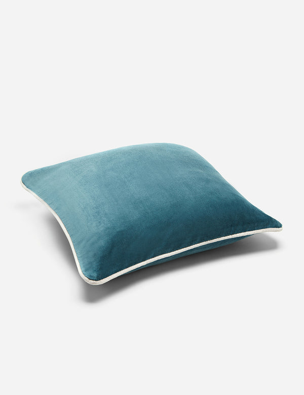 Liv Interior Velvet Cushion (45cm) - Smokey Blue