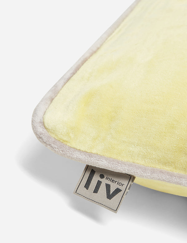 Liv Interior Velvet Cushion (45cm) - Lemon Yellow