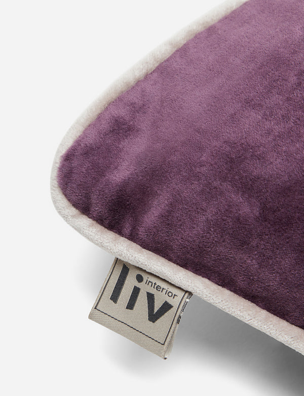 Liv Interior Velvet Cushion (45cm) - Plum