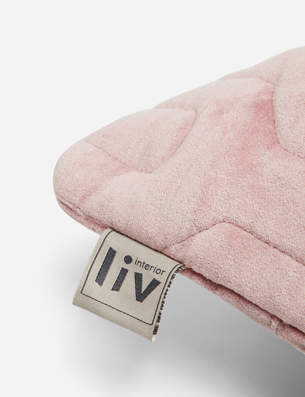 Liv Interior Quilted Velvet Cushion (45cm) - Pink