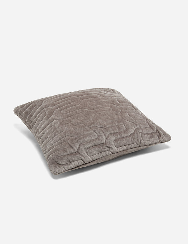 Liv Interior Quilted Velvet Cushion (45cm) - Grey