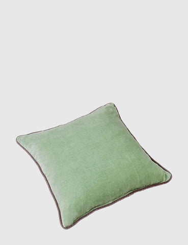 Liv Interior Velvet Cushion (45cm) - Sage Green
