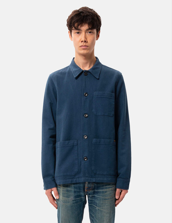 Nudie Barney Worker Jacket - Indigo Blue