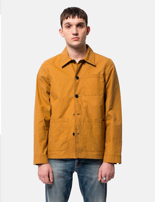 Nudie Barney Worker Jacket (Waxed) - Camel