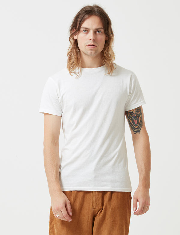 Velva Sheen Classic Tubular USA Made T-shirt - White
