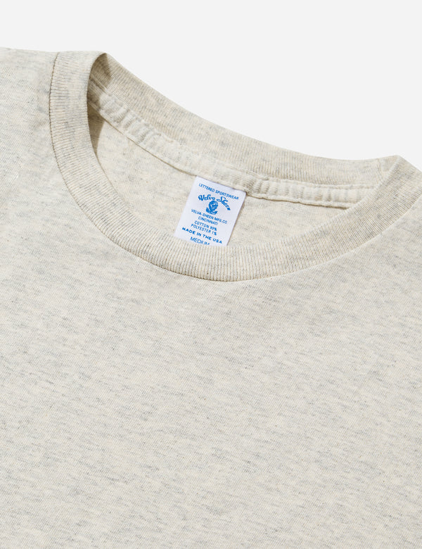 Velva Sheen Classic USA Made T-shirt (Pocket) - Oatmeal