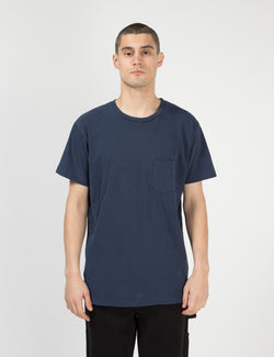 Velva Sheen Pigment Dyed USA Made T-shirt (Pocket) - Navy Blue