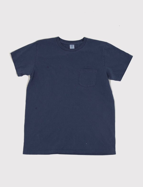 Velva Sheen Pigment Dyed T-shirt - Navy