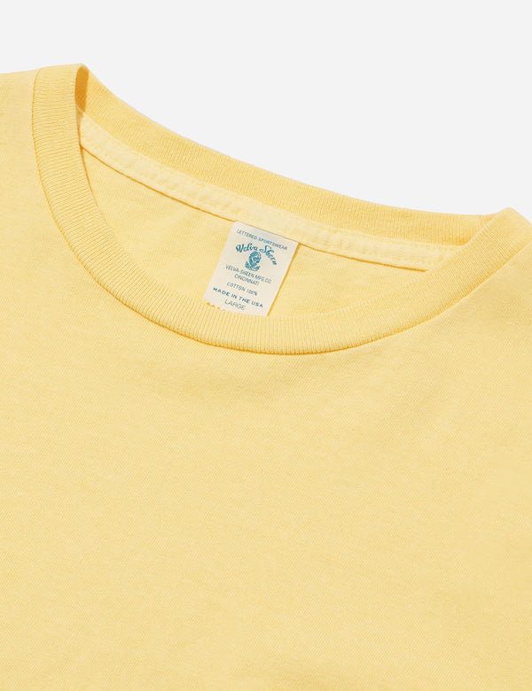 Velva Sheen Pigment Dyed USA Made T-shirt (Pocket) - Yellow