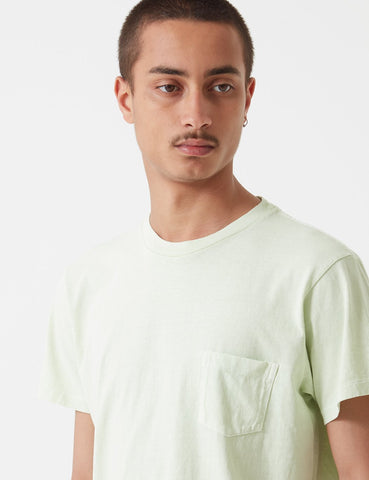 Velva Sheen Pigment Dyed USA Made T-shirt (Pocket) - Green