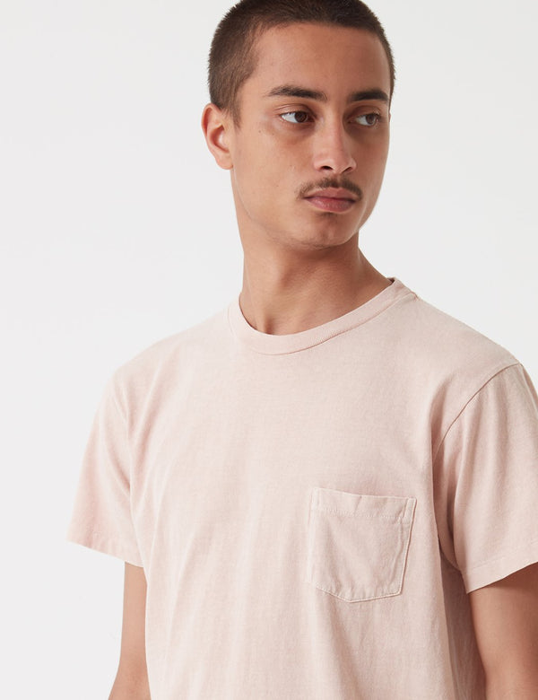 Velva Sheen Pigment Dyed USA Made T-shirt (Pocket) - Pink