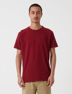 Velva Sheen Regular Rolled USA Made T-shirt - Burgundy Marl