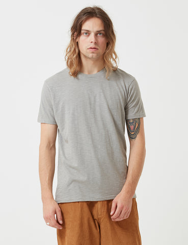 Velva Sheen Regular Rolled USA Made T-shirt - Grey