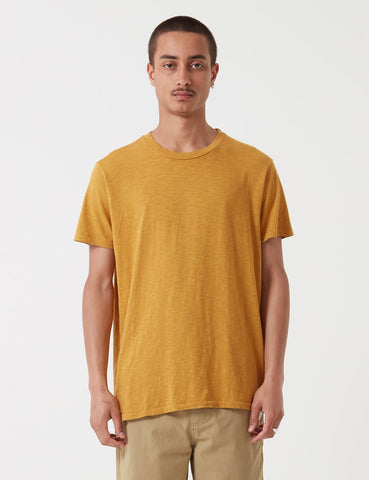 Velva Sheen Regular Rolled USA Made T-shirt - Mustard Marl