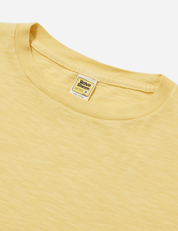 Velva Sheen Regular Rolled USA Made T-shirt - Light Yellow