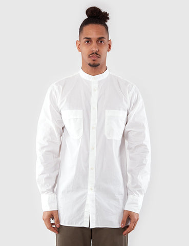 Universal Works Stoke Collarless Shirt - Ecru
