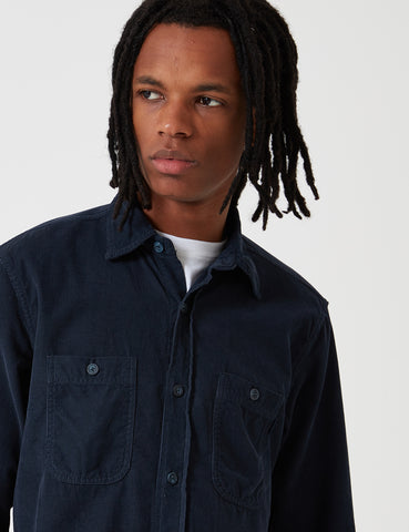 Bleu De Paname 2 Pocket Shirt - Navy Blue - Article