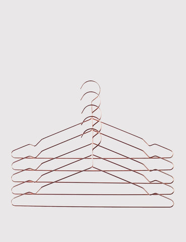 Hay Hang Coat Hangers Set of 5 - Copper