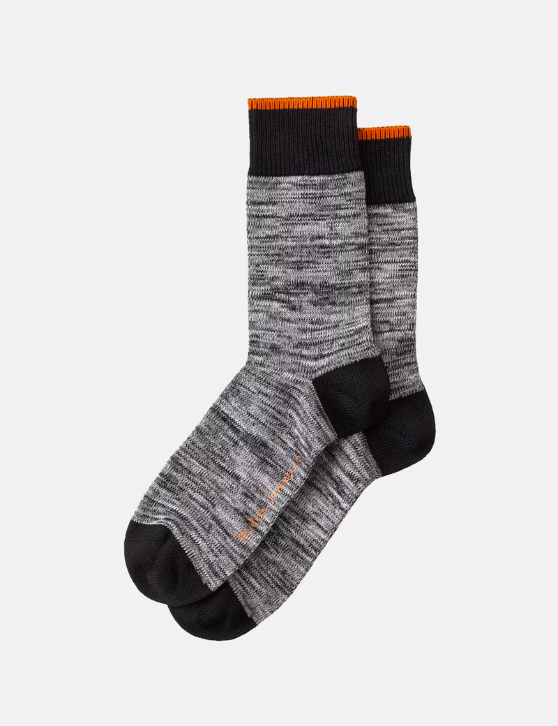 Nudie Rasmusson Multi Yarn Socks - Black