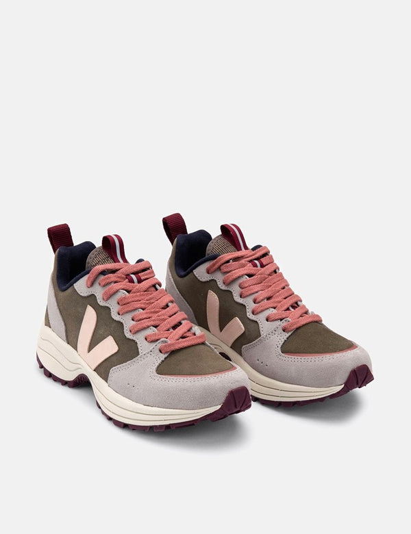 Damen Veja Venturi Wildledertrainer - Khaki/Sable/Oxford Grey