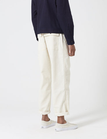 Universal Works Natural Twill Fatigue Pant - Ecru