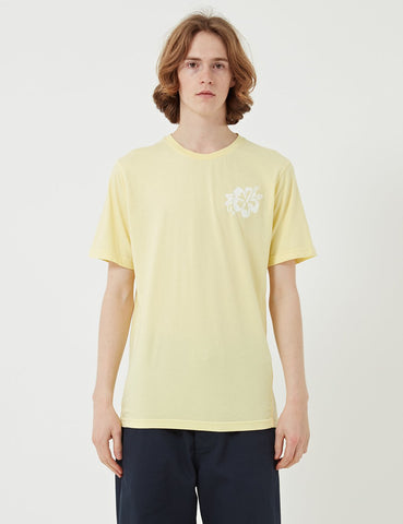 Universal Works Flower Print T-shirt - Lemon