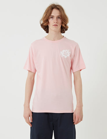 Universal Works Flower Print T-shirt - Strawberry