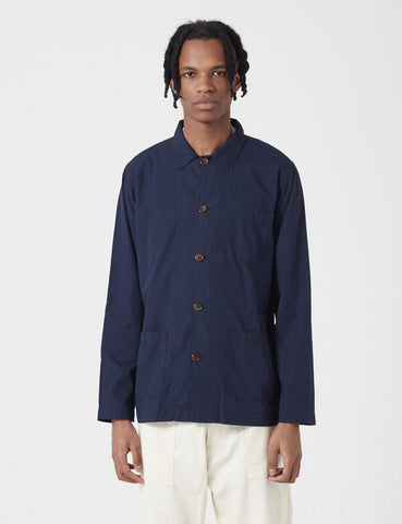 Universal Works Bakers Overshirt - Navy Blue