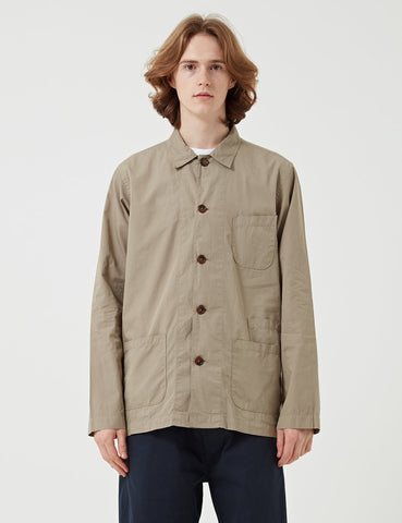 Universal Works Bakers Overshirt - Warm Stone