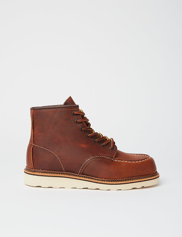 "Red Wing 6""Moc Toe Boot (Leather) - Copper Rough & Tough Brown"