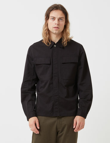Universal Works Chore Overshirt - Black