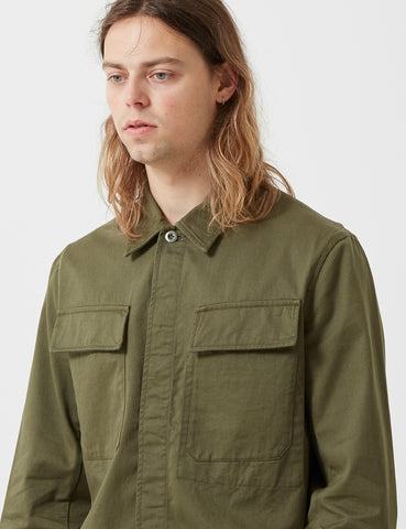 Universal Works Chore Overshirt - Light Olive Green