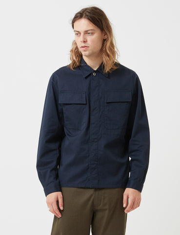 Universal Works Chore Overshirt - Navy Blue