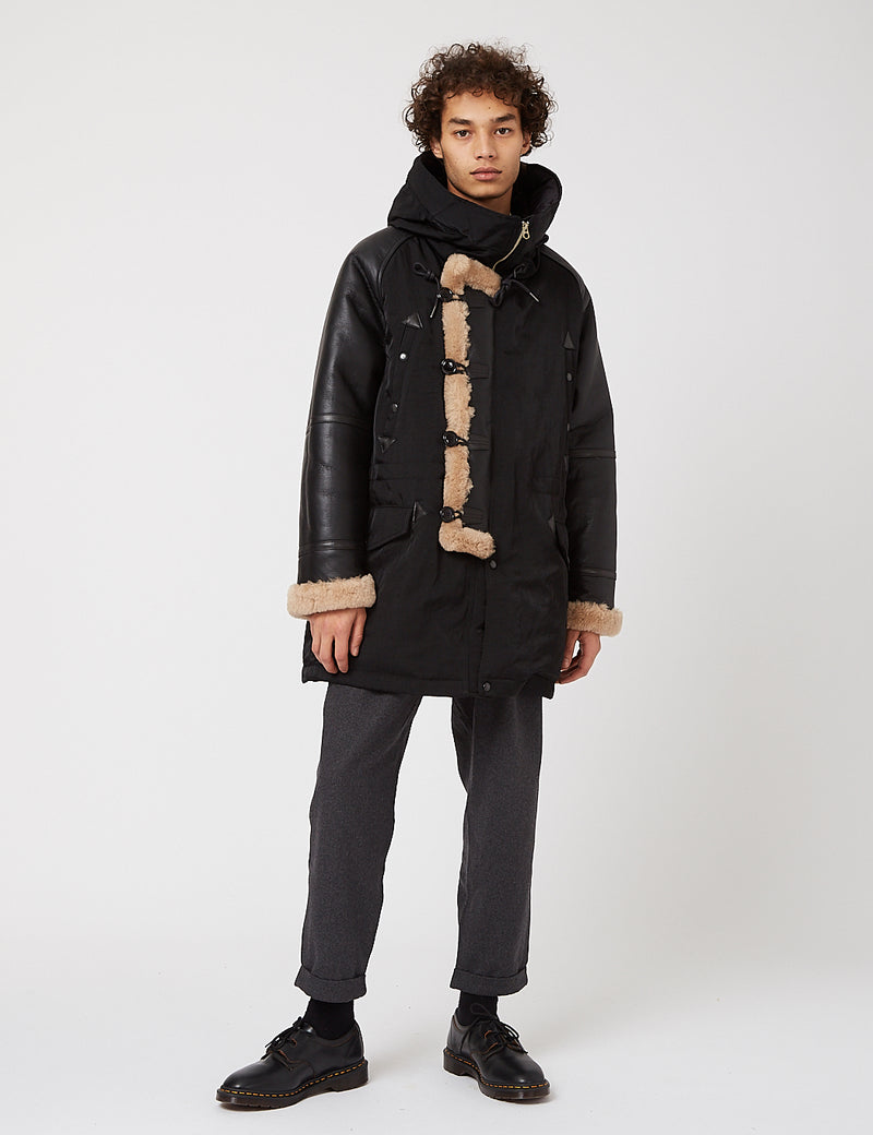 Eastlogue N-3B Mountain Down Parka - Black Sheepskin