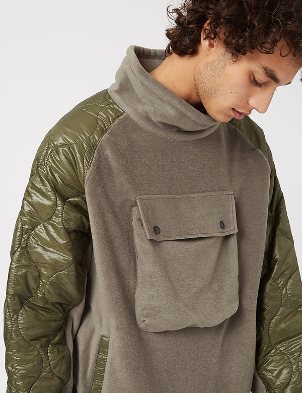 Eastlogue Quilting Pullover Pullover - Olive