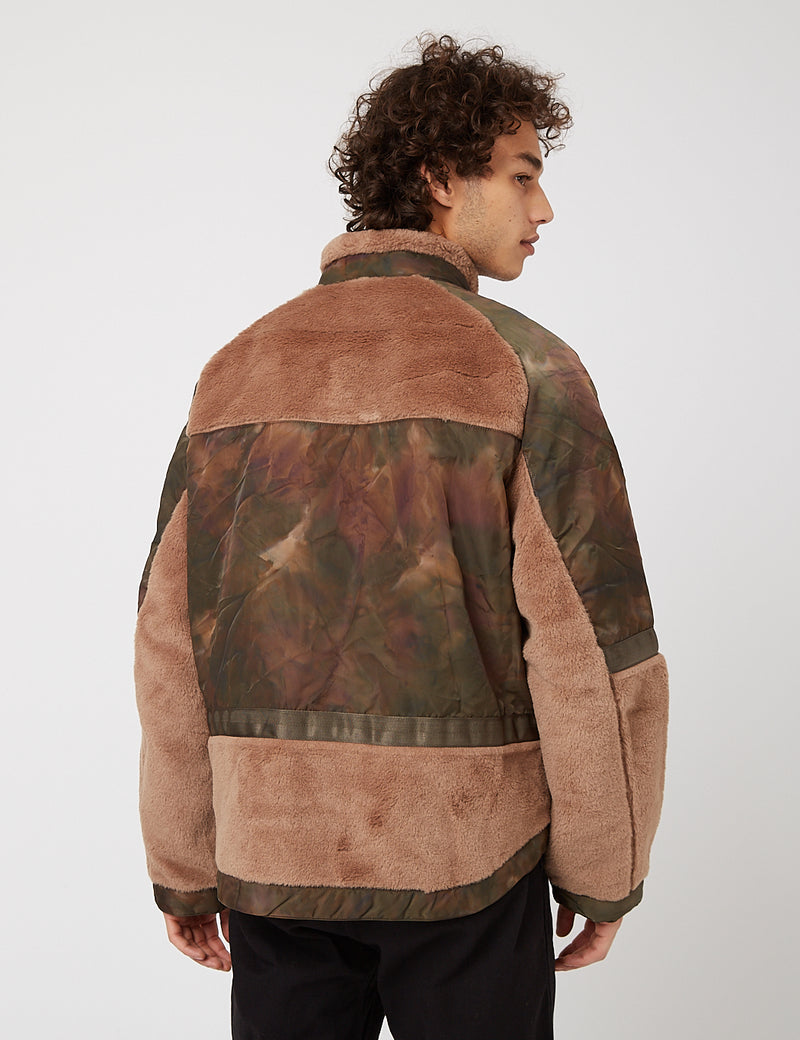 Eastlogue Shearling Flight Jumper - Olive Stain