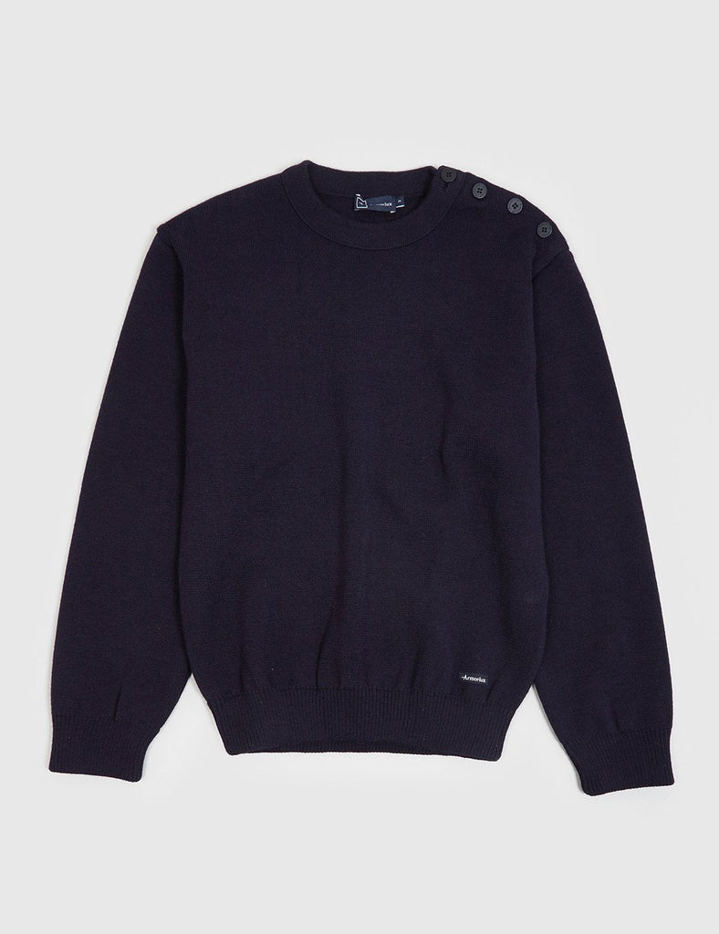 Armor Lux Gavrinis Knit Jumper - Navy Blue - Article