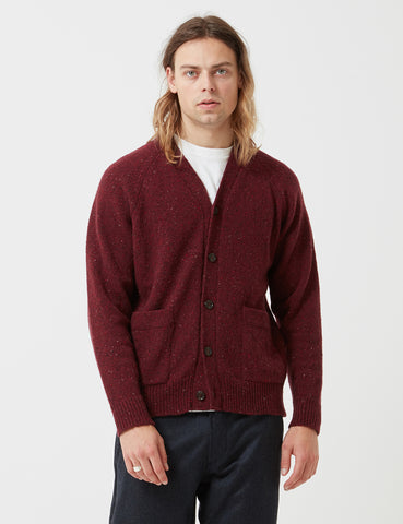 Universal Works Vince Fleck Cardigan - Red